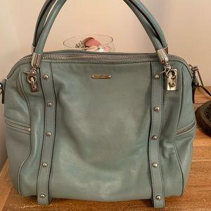Classic REBECCA MINKOFF  light blue satchel